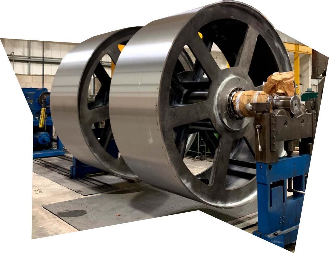 30 Tonne In-House Rotor Balancing Capacity