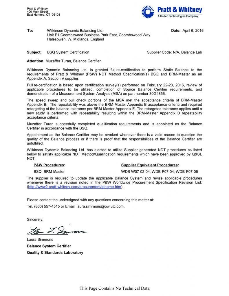 BSQ System Certificate
