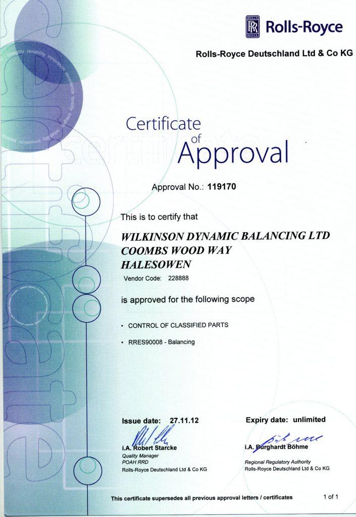 WDB - Rolls Rpyce Certified Contractor