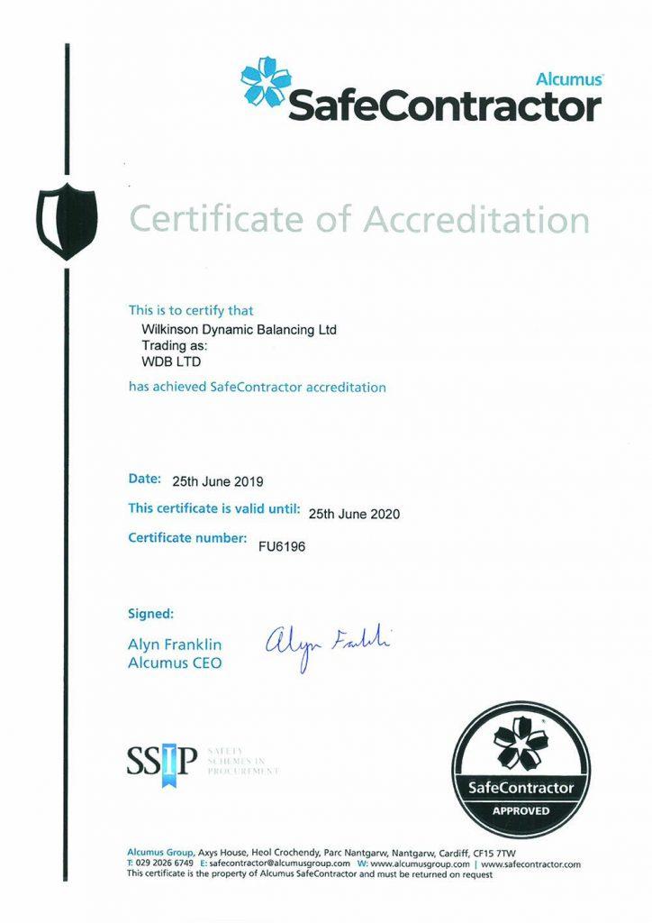 Alcumus Safe Contractor Certification